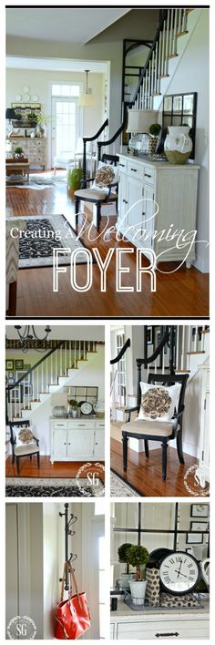 CREATING A WELCOMING FOYER-Ideas and tips for making your foyer fabulous and friendly-stonegableblog.com