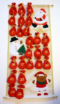 Adventi naptár, Karácsonyi, adventi apróságok, Baba-mama-gyerek, Adventi naptár, Karácsonyi dekoráció, Meska