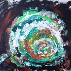 brina schenk painting - abstract tree stump