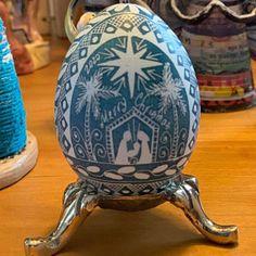 Easter eggs pysanky hand painted Ukrainian Pysanky Easter | Etsy Nativity Ornaments, Handmade Ornaments, Diy Adornos, Carved Eggs, Ukrainian Easter Eggs, Blue Eggs, Easter Art, Easter Traditions, Egg Art