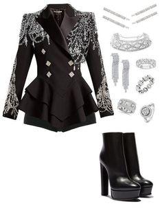 Blackpink Fashion, Kpop Fashion Outfits, Stage Outfits, Edgy Outfits, Mode Outfits, Cute Casual Outfits, Fashion Design, Japan Fashion, Dance Outfits
