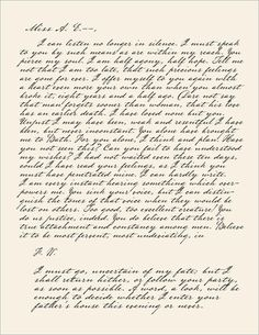 Captain Wentworth's letter to Anne - Persuasion by Jane Austen. Thanks to the men Jane Austen has created my standards are too high. Lol