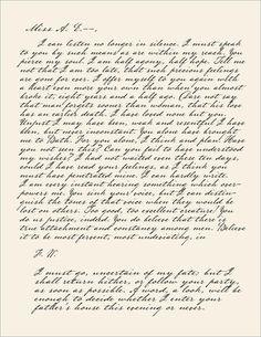 Captain Wentworth's letter to Anne -Persuasion, Jane Austen
