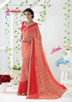 Get this beautiful pink designer printed georgette saree along with lace border from www.laxmipati.com/Catalogue/JAIMALA   #Catalogue #JAIMALA #DesignNumber: 4500 #Price - ₹1742.00  #Bridal #ReadyToWear #Wedding #Apparel #Art #Autumn #Black #Border #MakeInIndia #CasualSarees #Clothing #ColoursOfIndia #Couture #Designer #Designersarees #Dress #Dubaifashion #Ecommerce #EpicLove #Ethnic #Ethnicwear #Exclusivedesign #Fashion #Fashionblogger #Fashionista #Cashless #India #JAISHREE0117… Laxmipati Sarees, Georgette Sarees, Saree Shopping, Dubai Fashion, Lace Border, Printed Sarees, Daily Wear, Bridal Collection, Print Design