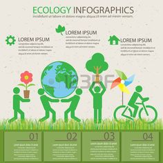 ecology green background and elements. plant and environmental save concept. Can be used for business layout, banner, diagram, web design, info chart, brochure template. vector illustration photo