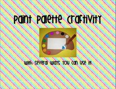 This is a cute craft that you could use at any point in the year!  Students have a fun time creating these Paint Palettes.  I included different ways you can use them like: Write a color poem Write a color poem using your 5 senses Write about your favorite color? How do colors make you feel? What do you want to create in art? And many more!
