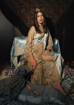 boudoir queen | Image of Isadora Duncan Vibes Authentic Edwardian Dress