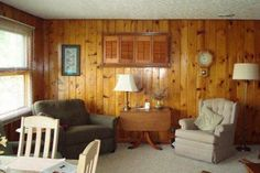 Interior decoration tips for rooms with Knotty Pine Paneling :http://www.hometone.com/interior-decoration-tips-for-rooms-with-knotty-pine-paneling.html