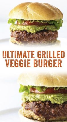 BEST Veggie Burger Recipe (Grilled or Baked!) – A Couple Cooks Want vegetarian grilling ideas? Finally, here's a delicious Grilled Veggie Burger that doesn't fall apart on the grill, and our grilled veggie burger tips! Best Veggie Burger, My Burger, Veggie Burger Recipe For Grill, Vegan Burger Recipe Easy, Mushroom Veggie Burger, Homemade Veggie Burgers, Lentil Burgers, Burger Toppings, Vegetarian Grilling