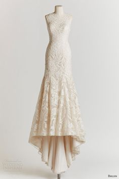 Vintage Wedding Dress: the figure hugging Adalynn gown with mermaid skirt, made from embroidered organaza, is vintage-inspired elegance at its finest! Vintage Style Wedding Dresses, 2015 Wedding Dresses, Wedding Attire, Wedding Vintage, Dress Vintage, 2015 Dresses, 1940s Wedding, Dresses Elegant, Beautiful Dresses