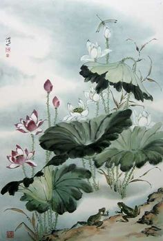 138 Best Sumi E Lotus Images Chinese Painting Chinese Art