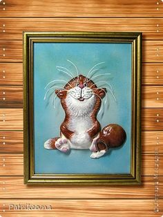Поделка изделие Лепка Очаровательный кот лепка из соленого теста Тесто соленое фото 1