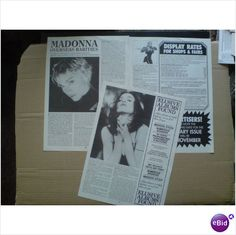 Madonna. Madonna Overseas Rarities 3 page feature from Record Collector magazine