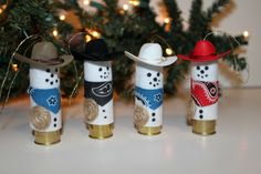 Items similar to Cowboy Snowman Shotgun Shell Christmas Ornament made from a Shot Gun Shell. Perfect Gift for any Cowboy or Hunter on Etsy Shell Ornaments, Xmas Ornaments, How To Make Ornaments, Christmas Decorations, Ornament Crafts, Redneck Christmas, Western Christmas, Christmas Fun, Country Christmas