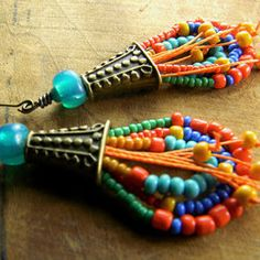 Beadwork Earrings Ideas & Collections