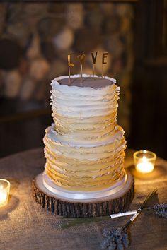ruffle cake | Courtney Bowlden Photography | Glamour & Grace