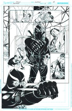 Batman and the COURT OF OWLS/ First Talon appearance in comics by Greg Capullo and Jonathan Glapion, in John Nguyen's Original published comic art Comic Art Gallery Room Comic Book Pages, Comic Book Artists, Comic Artist, Comic Books Art, Batman Comic Art, Batman Comics, Dc Comics, Batman History, Court Of Owls