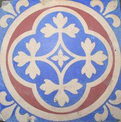 Antiques Atlas - Pugin Encaustic Tile From Houses Of Parliament
