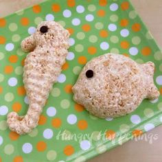 Kitchen Fun With My 3 Sons: Guest Post from Hungry Happenings sharing Cereal Treat Animals! Beach Treats, Summer Treats, Reis Krispies, Rice Crispy Treats, Krispie Treats, Cereal Treats, Super Party, Kids Meals, Happenings