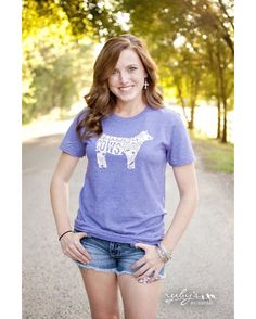Ruby's Rubbish | Women's Life is Better with Cows Around T-Shirt - Heathered Purple | Country Outfitter