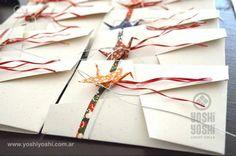 Tarjetas con detalle de origami