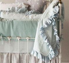 Bella Notte Cotton Velvet and Whisper Linen Baby Bedding