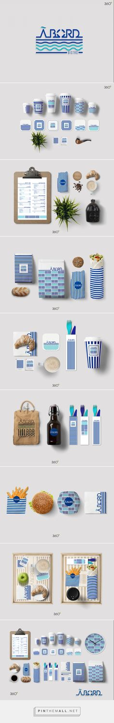 Art direction, graphic design for ABORD on Behance by Fatma Zahra'a 360° Sfax صفاقس, Tunisia curated by Packaging Diva PD. Love this nautical design, branding and packaging.
