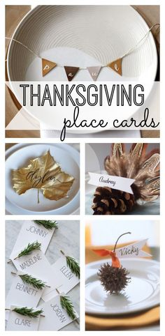 Thanksgiving Place Cards - My Life and Kids