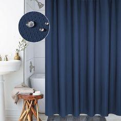 Solid 3D Plaid Shower Curtain Thicker Polyester shower curtains Navy Blue bath curtain 180x180cm High Quality rideaux de douche #Affiliate