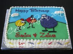 PEEP AND FRIENDS CAKE - MARBLE CAKE BEAUTIFULLY DECORATED IN BUTTERCREAM!