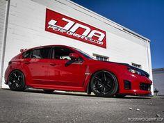 Subaru WRX Love the black hood