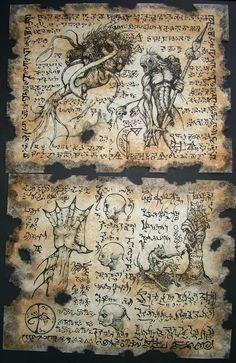 CHILDREN of DAGON Necronomicon Fragments by zarono on Etsy