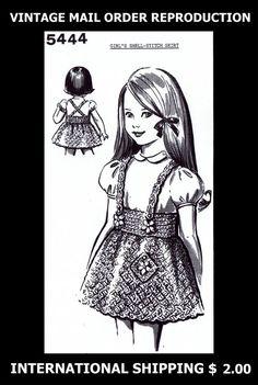 5444 Vintage 60s Design CHILD'S GIRLS Suspender SKIRT CROCHET Crocheting Pattern #PATTERNPEDDLER5444