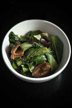 Bok Choy with Shiitake Mushrooms {Via Love Food Eat}