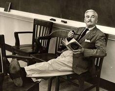 William Faulkner reading The Silver Treasury of Light Verse.