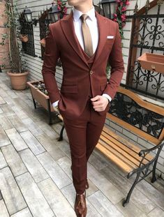 Product : Piomo Burgundy Slim Suits Color code : Burgundy Size : EU Suit material: Elastane, Cotton, Viscose blend , & Polyamide Machine Washable : No Fitting : Regular Slim-fit Remarks: Dry Cleaning Only Cheap Mens Fashion, Mens Fashion Blazer, Mens Boots Fashion, Suit Fashion, Mens Casual Suits, Dress Suits For Men, Mens Suits, Men Dress, Designer Suits For Men