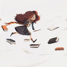 Hermine Granger Potter Granger Art Source by pandacc Harry Potter Magic, Harry Potter Fan Art, Harry Potter Characters, Harry Potter Fandom, Harry Potter World, Harry Potter Illustrations, Harry Potter Drawings, Hermione Granger Art, Classe Harry Potter