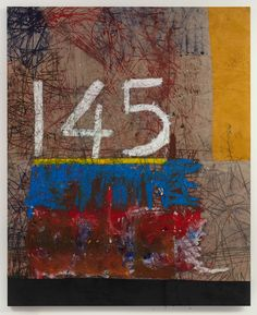 Oscar Murillo - 145 hours I clocked in this week 2013, Oil paint, oil stick, dirt, 265 x 215 cm