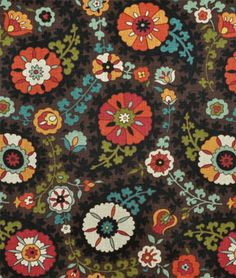 Richloom Somerset Gypsy Fabric - maybe Game Room? Suzani Fabric, Drapery Fabric, Pillow Fabric, Red Fabric, Live In Style, Rental Decorating, Master Bedroom Design, Floral Illustrations, Do It Yourself Home