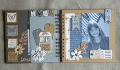 Mini Albums Scrapbook, Diy Scrapbook, Journal Topics, Paper Crafts, Diy Crafts, Cricut Cards, Memory Books, Mini Books, Scrapbooks