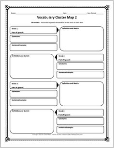 These free graphic organizers include note taking charts, vocabulary webs, author study maps, think pair share charts, timelines, customizable organizers . . .