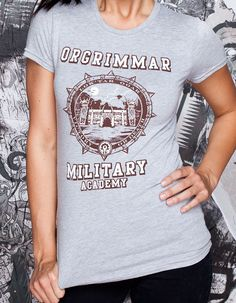 J!NX : World of Warcraft Orgrimmar Military Academy Women's Tee - Clothing Inspired by Video Games & Geek Culture