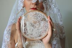 rustic ring bearer wedding decor / lace ivory by cornerofthegarden, $25.00