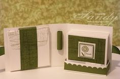 Gift Box Tutorial at Scrappy Habits - gift box for home-crafted cards Scrapbooking, Scrapbook Cards, Cute Cards, Diy Cards, Small Cards, Card Tutorials, Homemade Cards, Stampin Up Cards, Mini Albums