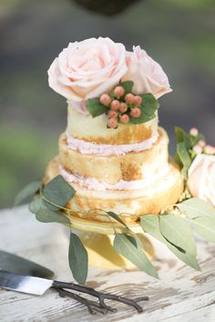 Gallery & Inspiration | Rose Inspired Cake for Shower