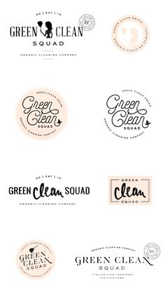 Brand Launch: Green Clean Co. | Logo concepts | design, branding, brand styling, brand design, logo | by saltedink.com