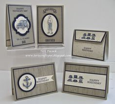 Stampin' Up! - Guy Greetings - Project Set ....  Teri Pocock - http://teriscraftspot.blogspot.co.uk/2015/03/guy-greetings-project-set.html