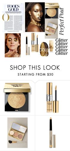 """""""old but gold :)"""" by barbie-739 ❤ liked on Polyvore featuring beauty, Bobbi Brown Cosmetics, Yves Saint Laurent, Albeit, By Terry, Pat McGrath, Burberry and gold"""