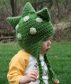 Dinosaur Dragon Hat crochet-kids