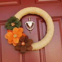 Love this Wreath!! Going to attempt and create this tomorrow for our first girls craft day!!